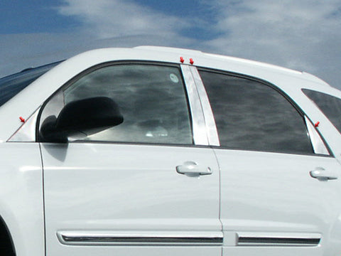 TORRENT 2005-2009 PONTIAC (8 Pc: Stainless Steel Pillar Post Trim Kit , 4-door, SUV) PP45162