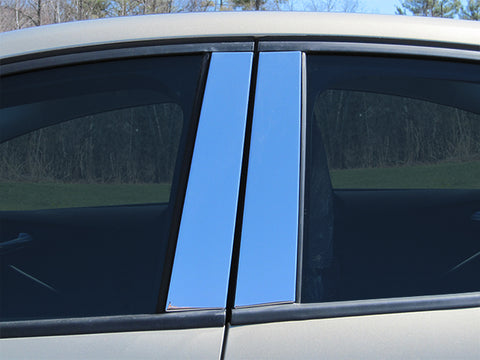 FOCUS 2012-2018 FORD (4 Pc: Stainless Steel Pillar Post Trim Kit , Sedan & Hatchback) PP52345
