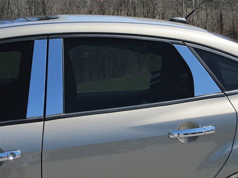 FOCUS 2012-2018 FORD (6 Pc: Stainless Steel Pillar Post Trim Kit , Sedan & Hatchback) PP52346