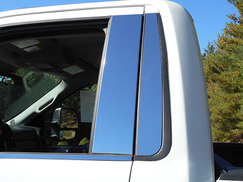 F-150 2015-2019 FORD (4 Pc: Stainless Steel Pillar Post Trim Kit w/o keyless entry access, Regular Cab) PP55307