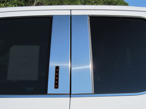 F-150 2015-2020 FORD (4 Pc: Stainless Steel Pillar Post Trim Kit w/ keyless entry access, Super Cab, Crew Cab) PP55309