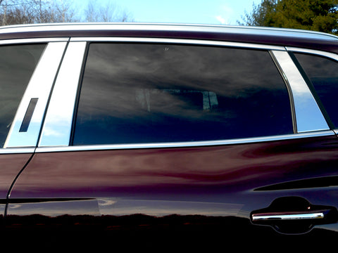 MKX 2016-2018 LINCOLN (6 Pc: Stainless Steel Pillar Post Trim Kit, 4-door, SUV) PP56661