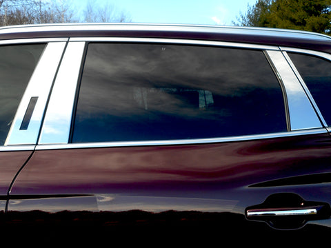 MKX 2016-2018 LINCOLN (8 Pc: Stainless Steel Pillar Post Trim Kit, 4-door, SUV) PP56662