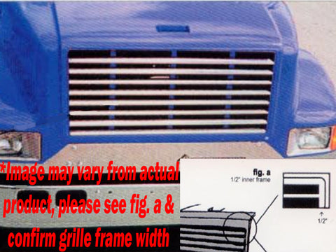 International 4700 & 4900 Series - Horizontal Grille Overlay with 1/4