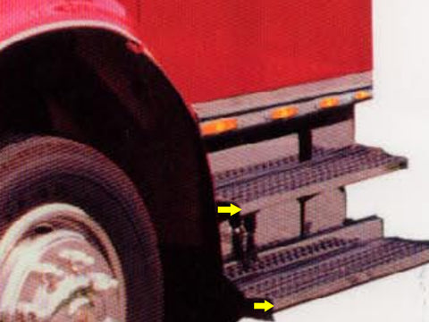 International 4700 & 4900 Series - 2pc Step Face Overlay Plates (*Crew Cab ONLY*) QAA Part QAINT47020