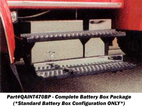 International 4700 & 4900 Series - Battery Box Complete 7pc Overlay Package (*Standard Battery Box Configuration ONLY*) QAA Part QAINT470BP