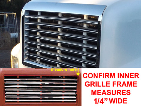 International 4700 & 4900 Series - Complete 11pc Grille Overlay Package (TRUCK EQUIPPED WITH 1/4