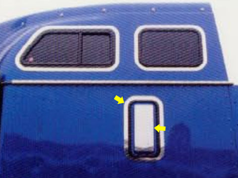 International 9000 Series - 2pc SLEEPER VENT TRIM
