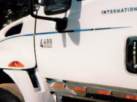 International 4000 Series - 4pc Hood Emblem Package *FITS MODEL YEARS 2002-2010* QAA Part QAIT4344HE