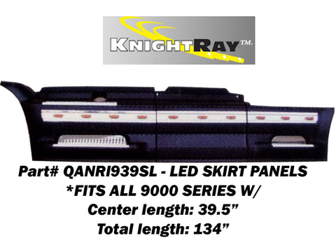 International 9000 Series - 6pc 20 LED SKIRT PANEL KIT (CENTER LENGTH: 39.5