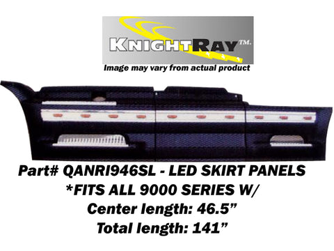 International 9000 Series - 6pc 22 LED SKIRT PANEL KIT (CENTER LENGTH: 46.5