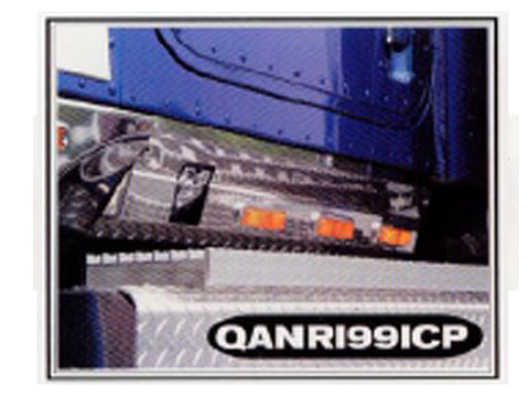 International 9000 Series - 2pc 7 LED SURFACE MOUNT CAB PANELS W/O HEATER PLUG CUTOUT (*WILL NOT FIT MODELS W/ SKIRTS, DAYCAB OR DPW*) QAA Part QANRI991CP