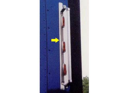 International 9000 Series - 2pc 6 LED GRAB HANDLE PANELS (*ONLY FITS MODEL SLEEPERS W/ SIDE-MOUNTED REAR GRAB HANDLE & EXTENSION*) QAA Part QANRI9GRLP