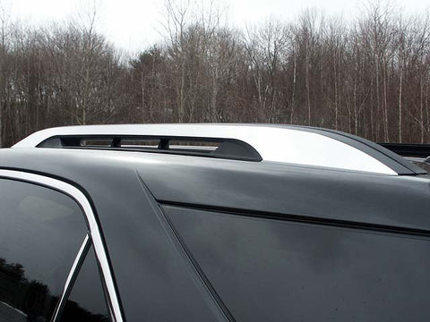 EQUINOX 2010-2017 CHEVROLET (2 Pc Stainless Steel Roof Rack Trim - Note: This item adheres to factory Roof Rack Trim. You MUST have factory Roof Rack Trim to use this item, 4-door, SUV) RR50160