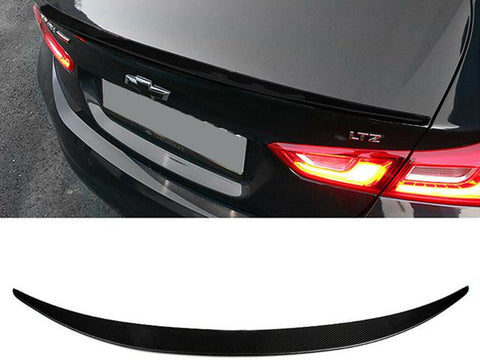 Auto Trim fits Chevrolet Malibu 2016-2020 1 piece Gloss Black Plated ABS plastic Rear Deck Trim, Trunk Lid Spoiler Accent Hardware included for Installation SP103BLK