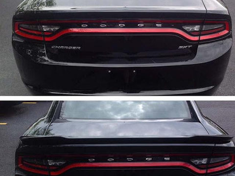 Auto Trim fits Dodge Charger 2011-2020 1 piece Gloss Black Plated ABS plastic Rear Deck Trim, Trunk Lid Spoiler Accent Hardware included for Installation SP300BLK