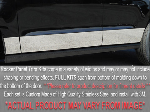 QAA fits Chevrolet S-10 1994-1997 (10 piece Stainless Steel Rocker Panels) TH34194-1