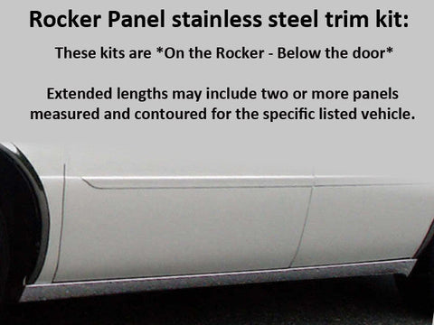 Stainless Rocker Panel Trim 6Pc Fits 2000-2005 Cadillac DeVille TH40255 QAA
