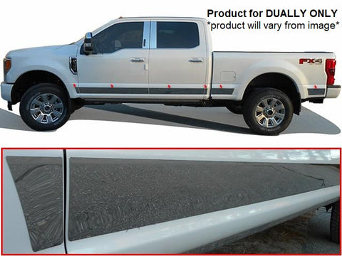 Stainless Steel Rocker Panel Trim 12Pc Fits 17-20 Ford F-250 F350 DUALLY TH57326 QAA