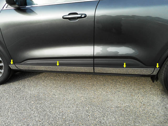 Works with 2009-2015 Ford Flex 8PC Stainless Steel Chrome Pillar Post Trim Made in USA