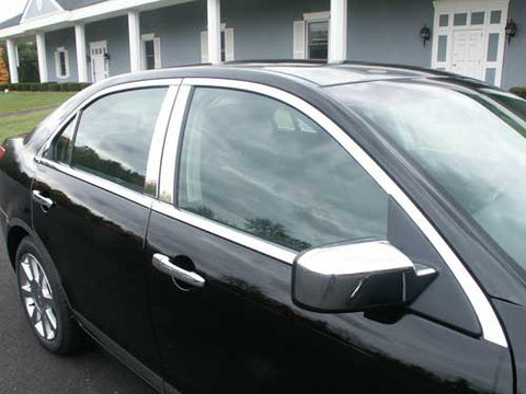 MKZ 2006-2012 LINCOLN (12 Pc: Stainless Steel Window Trim Package , 4-door) WP46630
