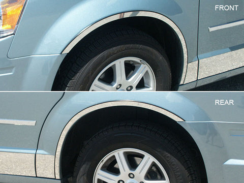 QAA fits Dodge Grand Caravan 2008-2020 (4 piece Stainless Steel Wheel Well Accent Trim) WQ48895-2