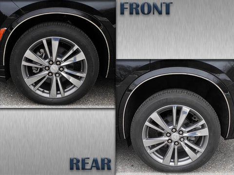 QAA fits 2020 Cadillac XT6 4 piece Stainless Wheel Well Accent Trim, 0.281