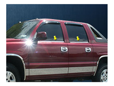 QAA fits Chevrolet Avalanche 2002-2006 (4 piece Stainless Steel Window Trim) WS40198-2