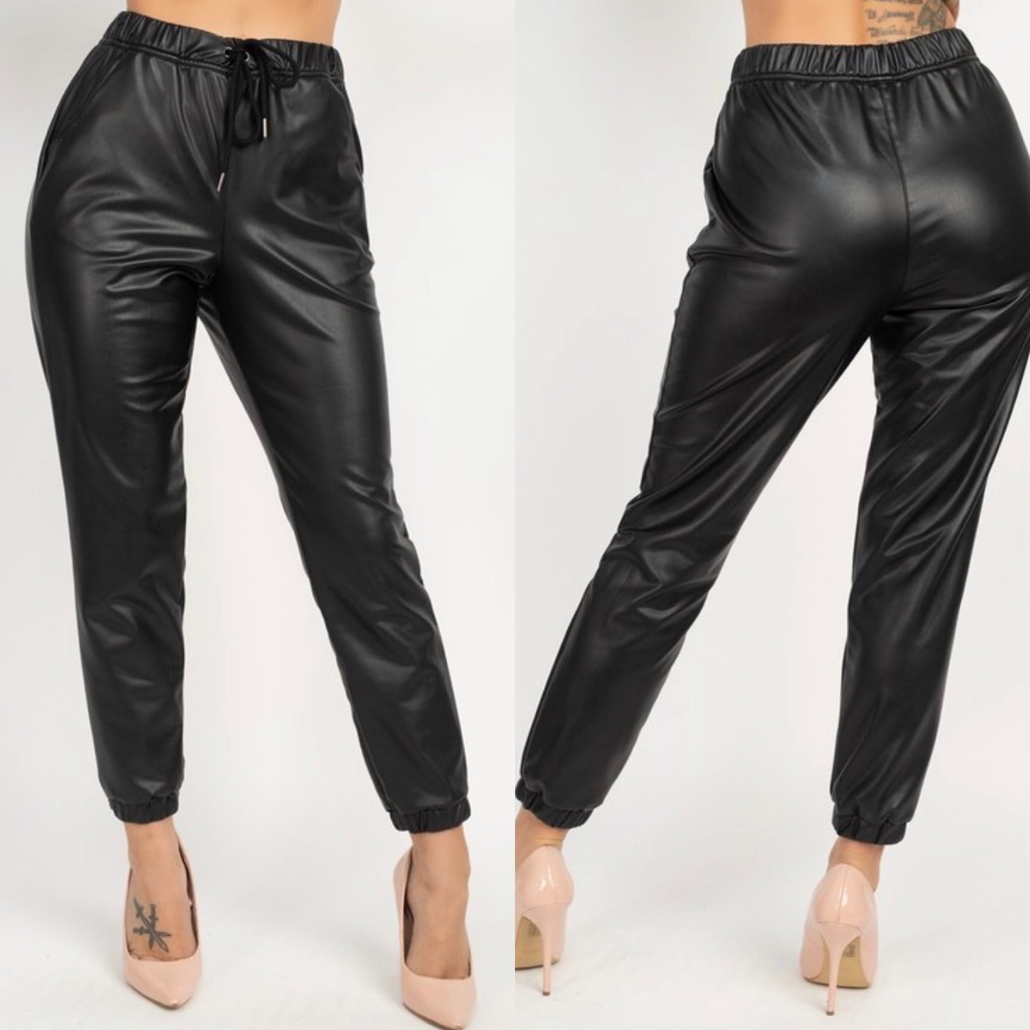 Allure Leatherette Leggings & Joggers