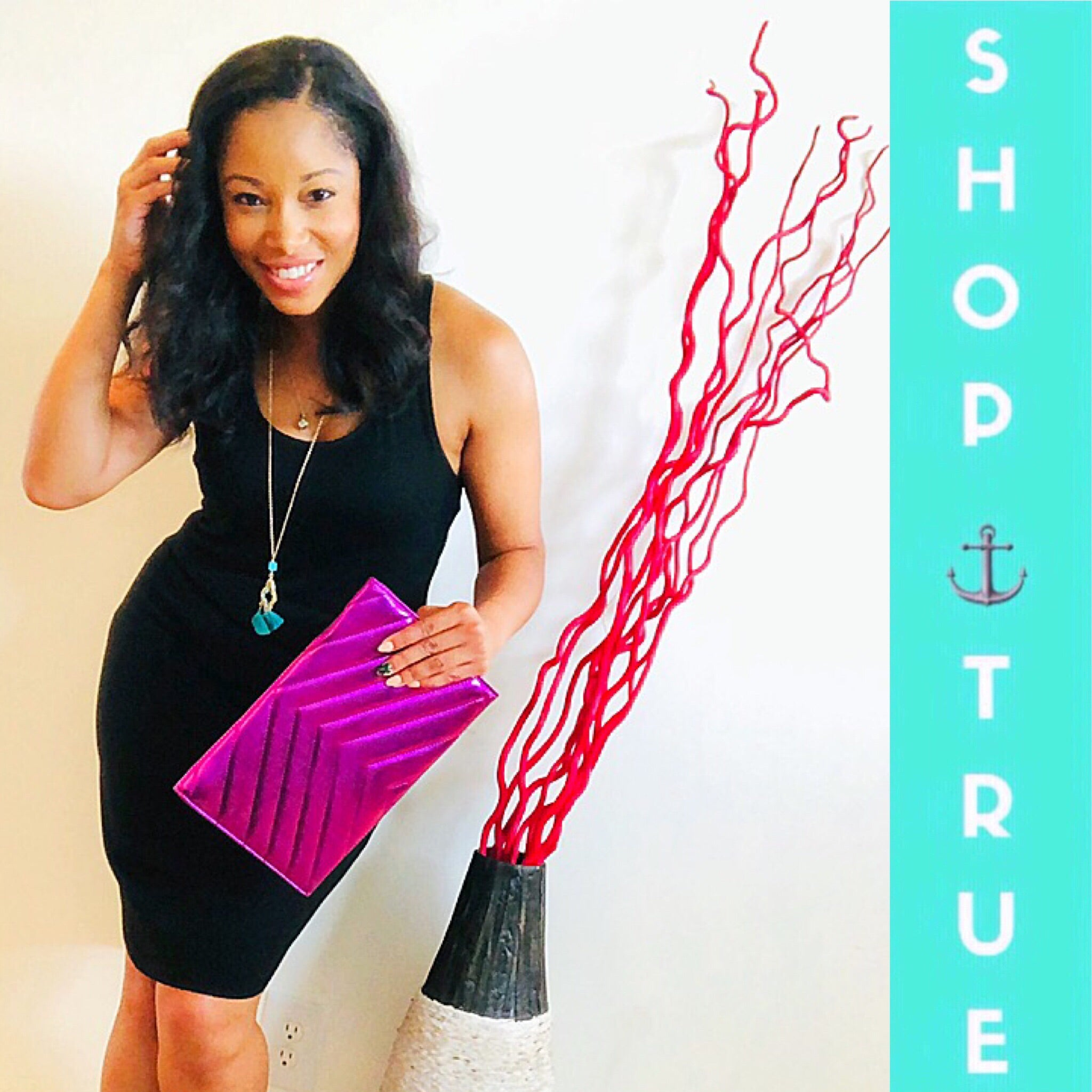 TRUE . Amethyst Envelope Clutch - TRUE.