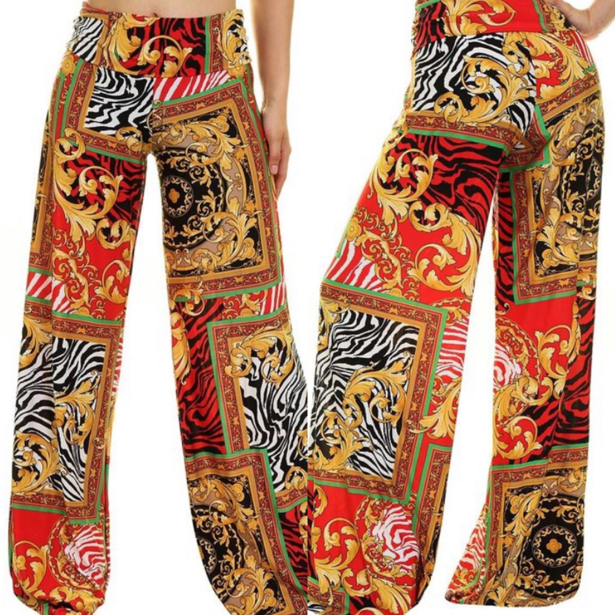 Play More Popping Palazzo Pants - TRUE.