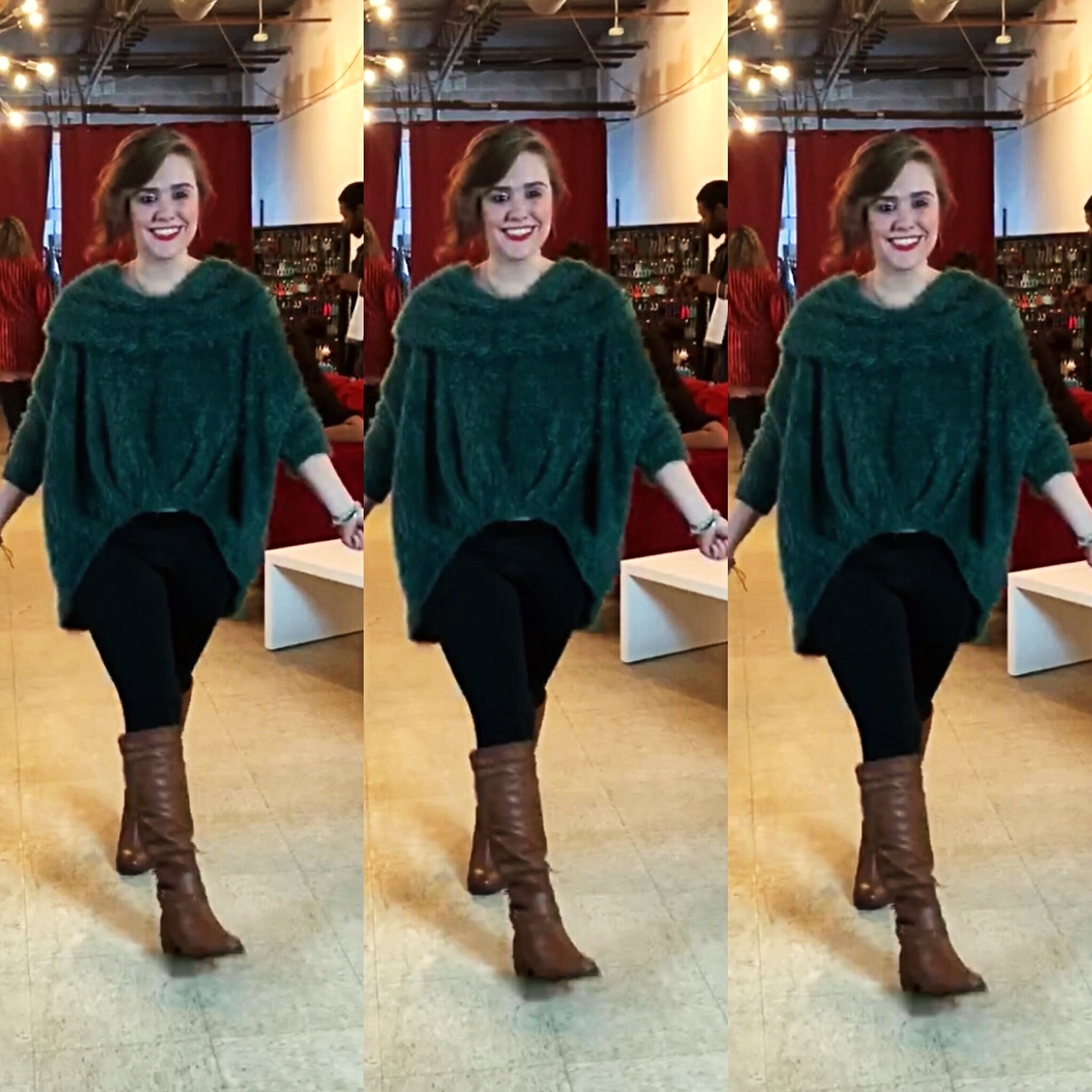 Cash Out Green Textured High Low Sweater - TRUE.