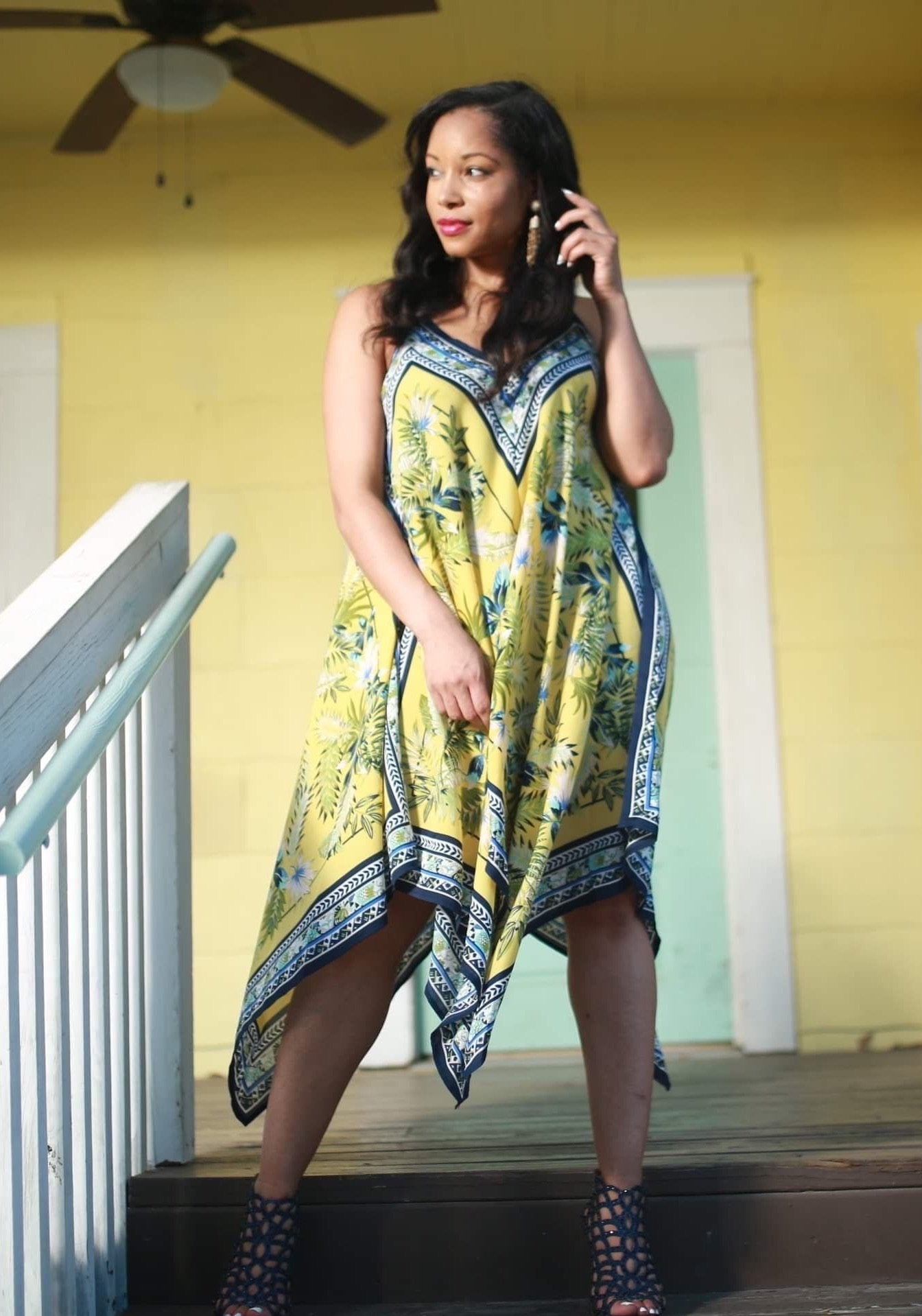 Free Handkerchief Hem Dress