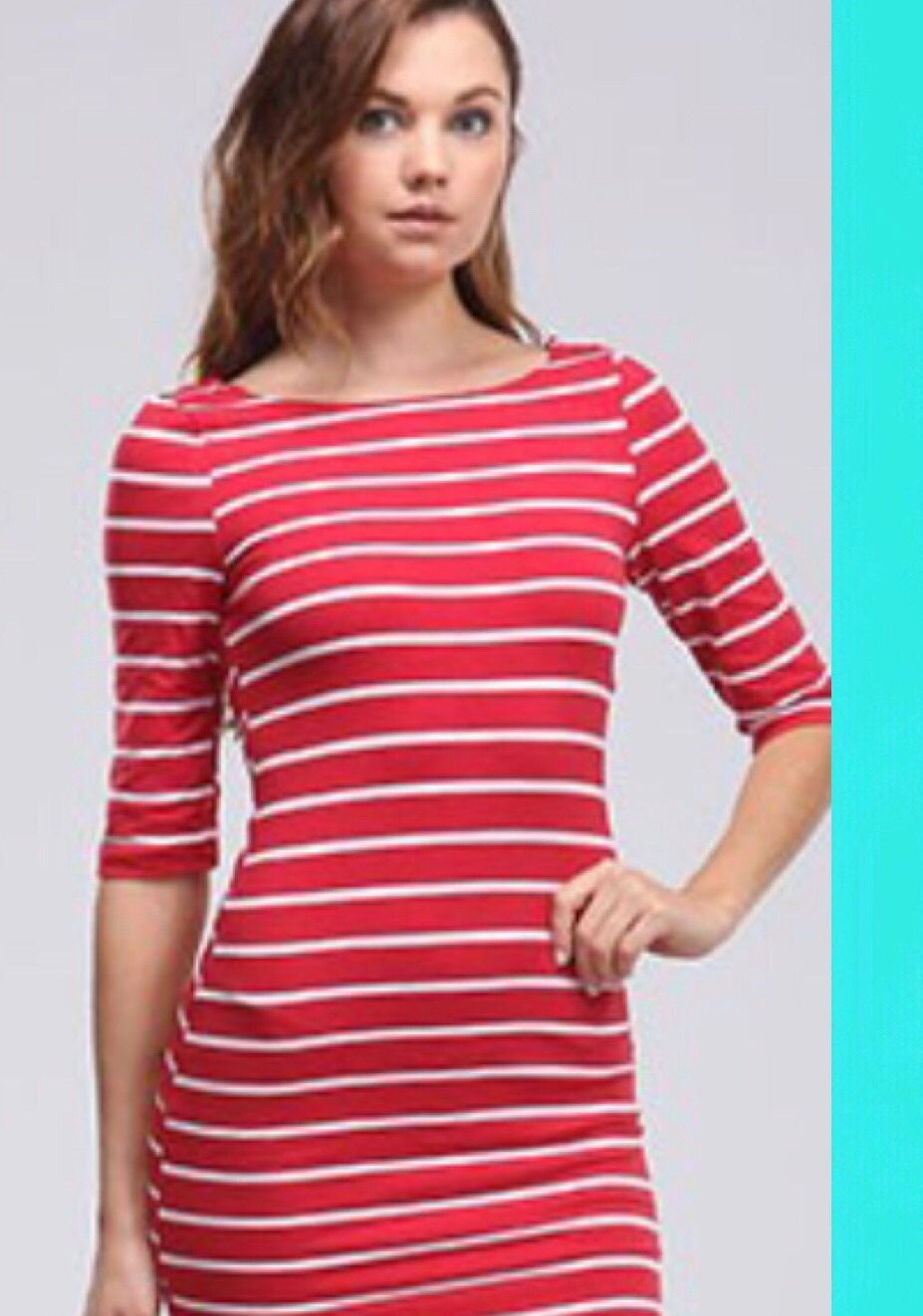 Red Stripe Tunic Top Mini - TRUE.