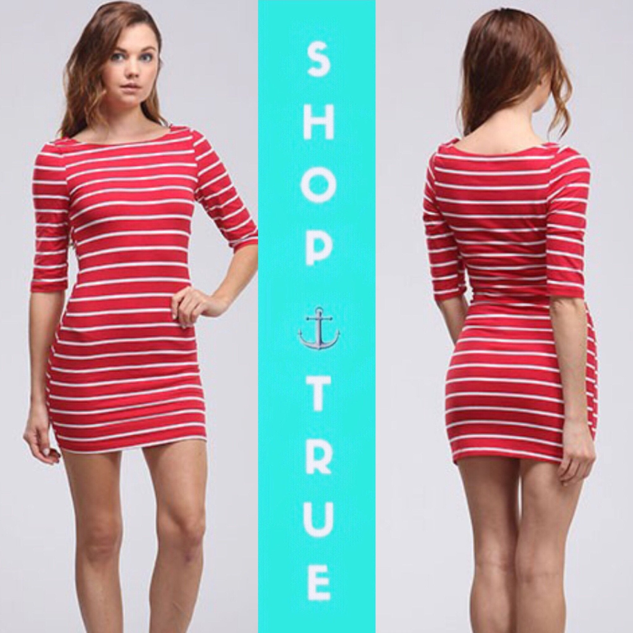 Red Stripe Tunic Top Mini