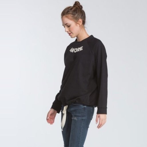 Amore Drawstring Pullover Top - TRUE.