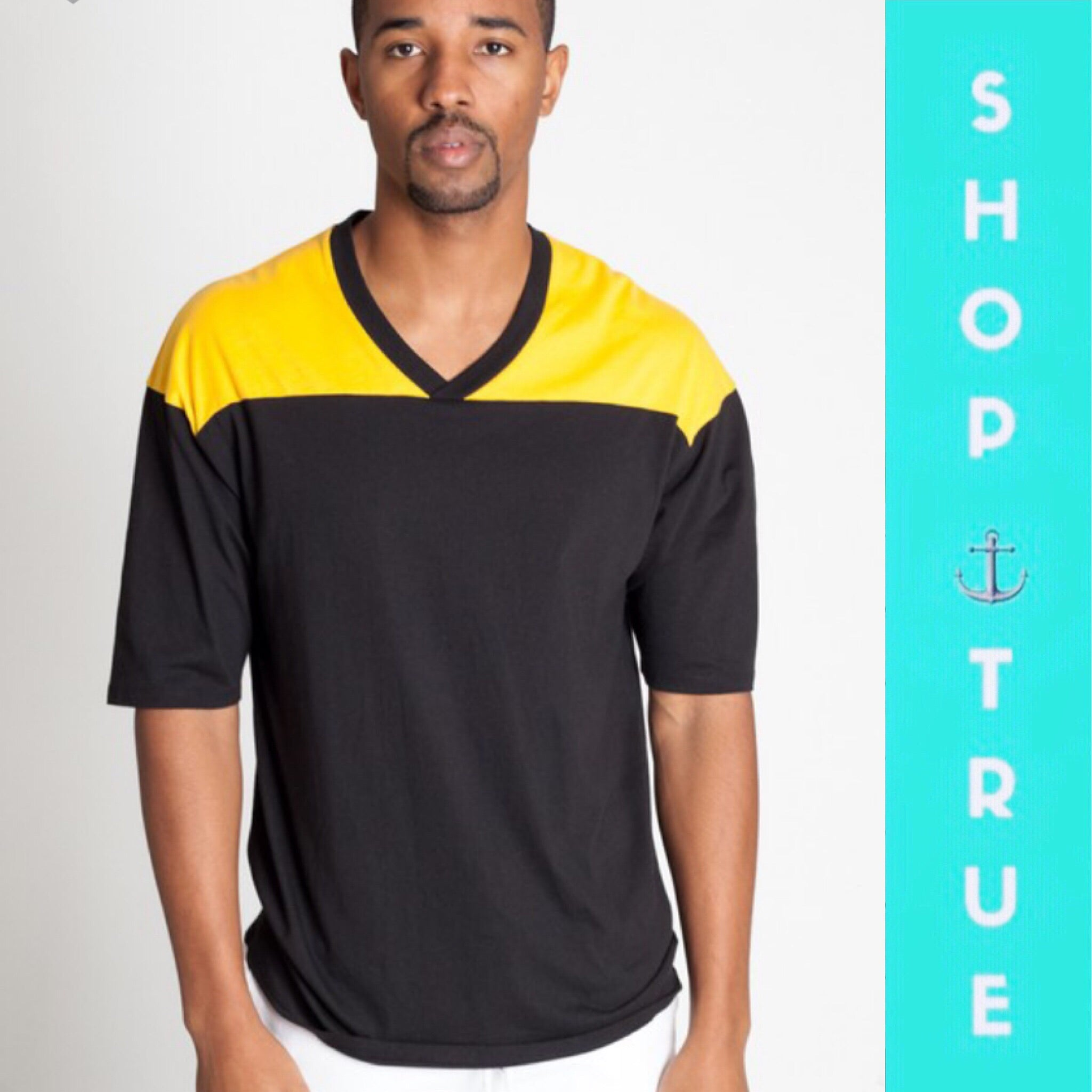 Black & Yellow Football Men's Tee - TRUE.