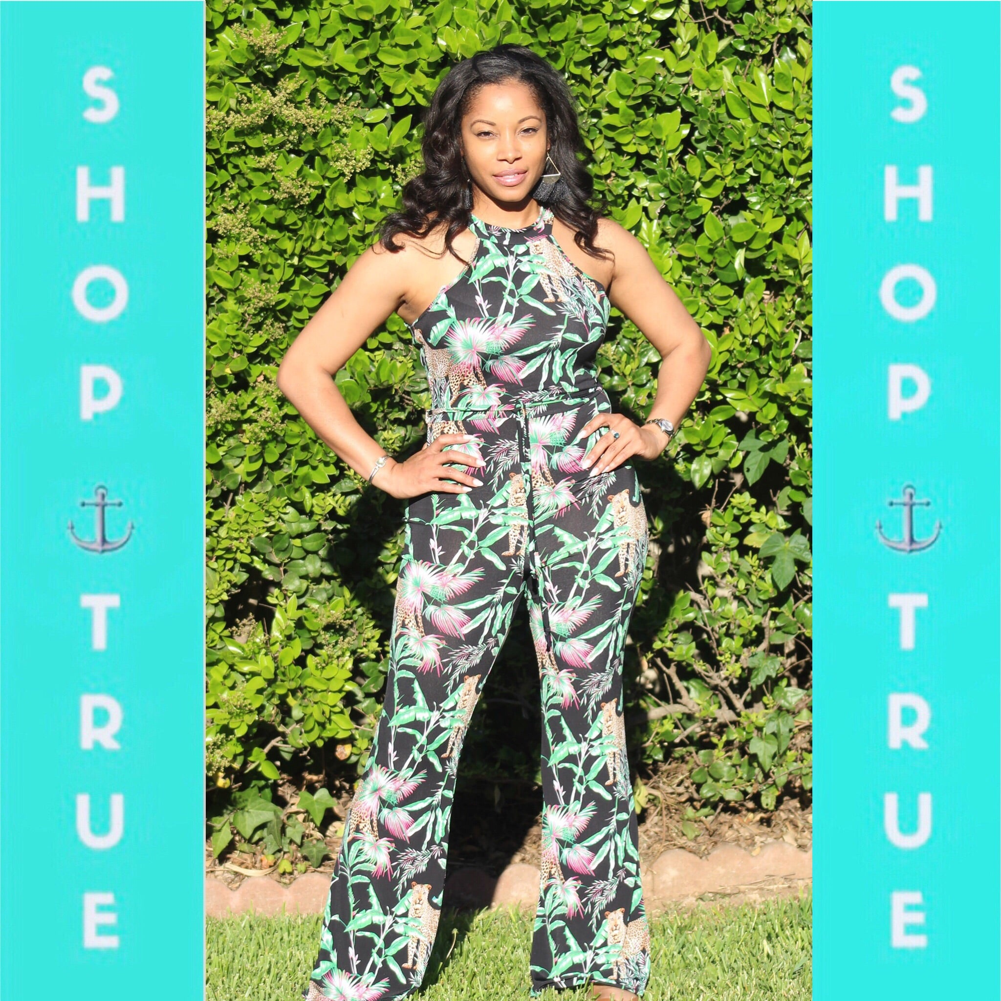 ~On The Prowl Sleeveless Jumpsuit - TRUE.