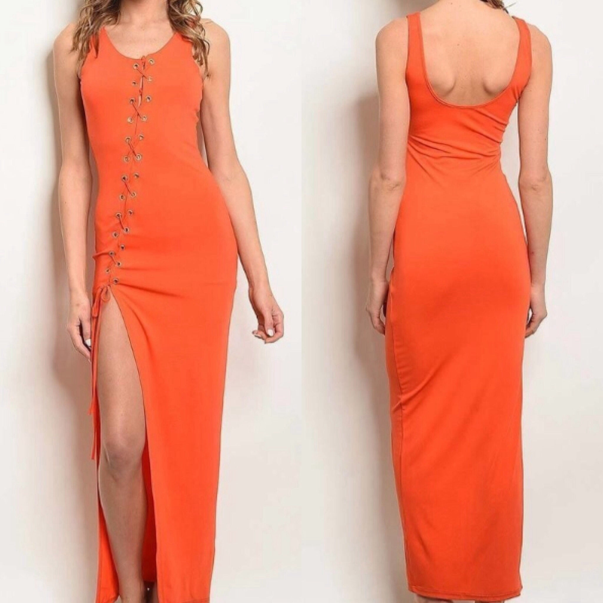 Lacy Orange Maxi - TRUE.