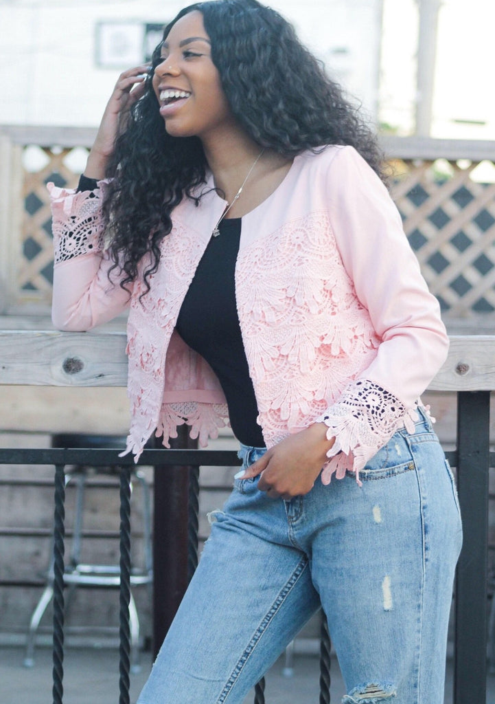 TRUE ~ Serenity Pink Textured Jacket - TRUE.