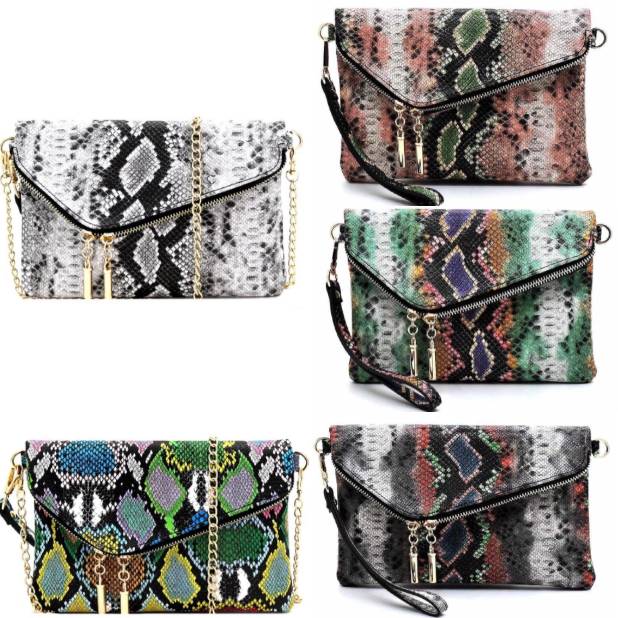 It's In The Bag Medium Python Clutch Cross-body Collection - TRUE.
