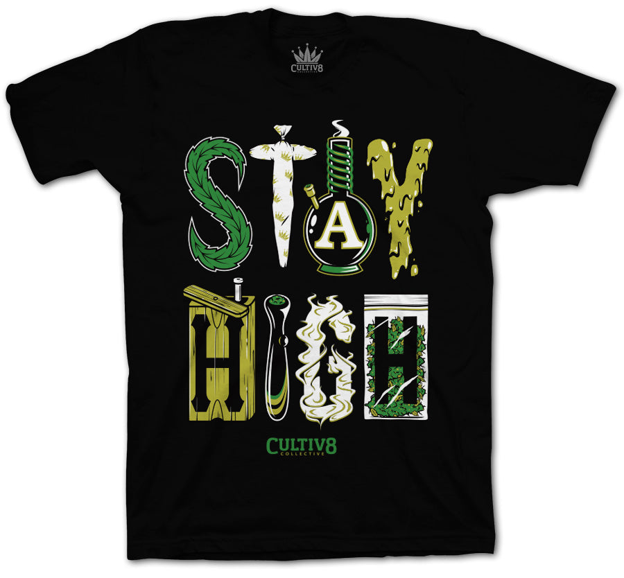 cultiv8 collective stay high t-shirt
