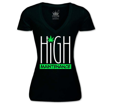 high maintenance women's v-neck