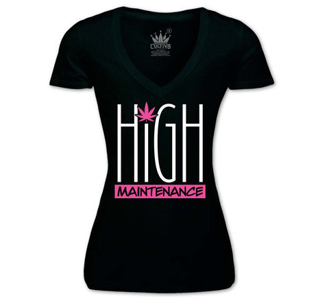 HIGH MAINTENANCE V-NECK - PINK