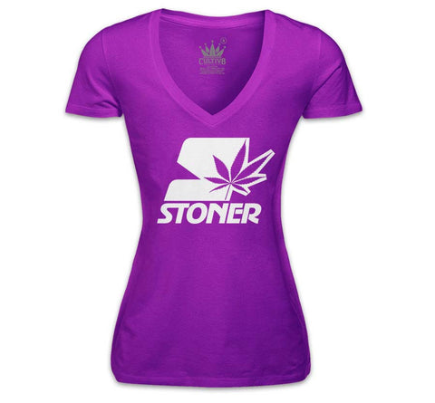 STONER V-NECK - PURPLE
