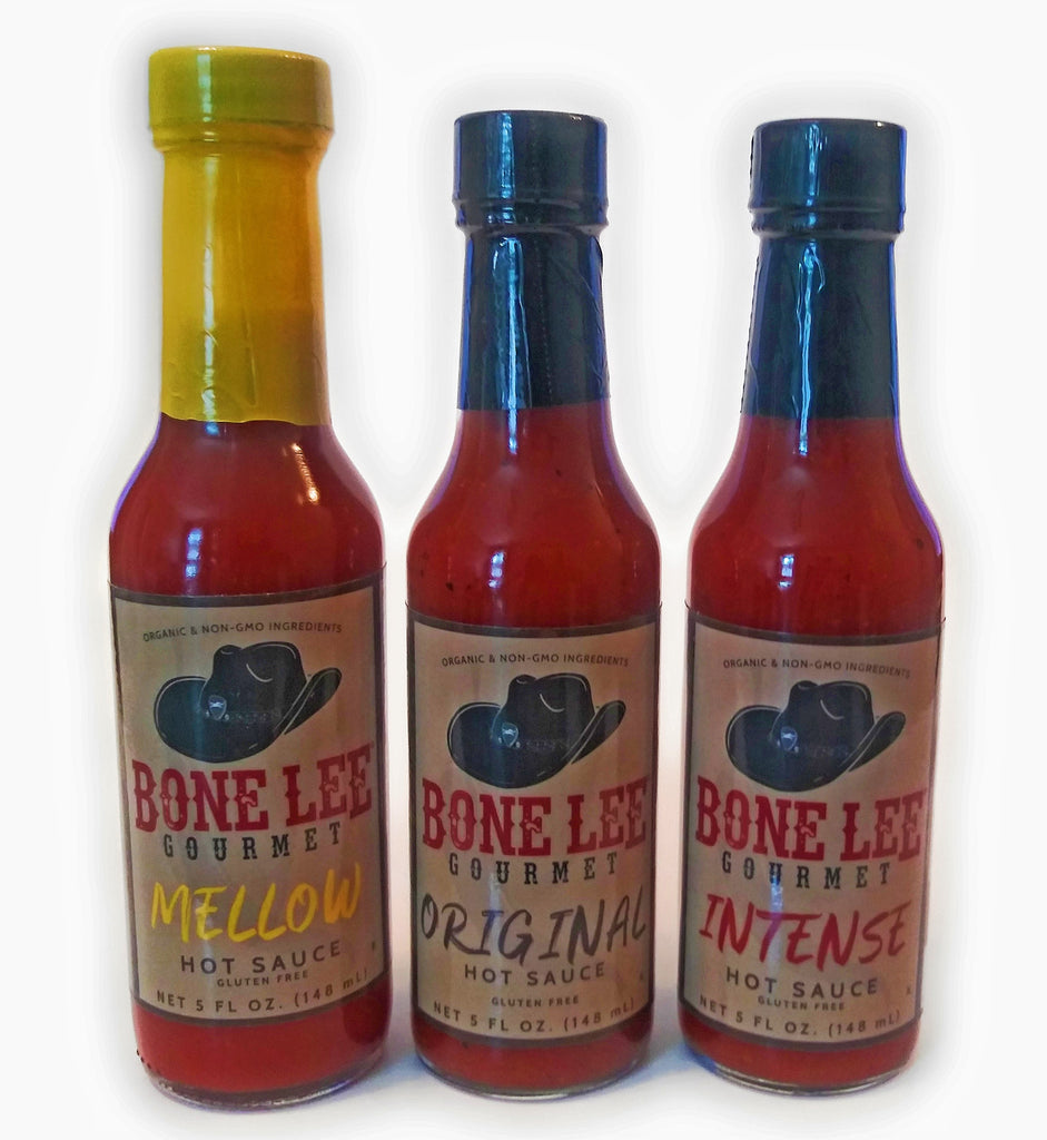 3 - PACK  Bone Lee Gourmet Hot Sauce on AMAZON