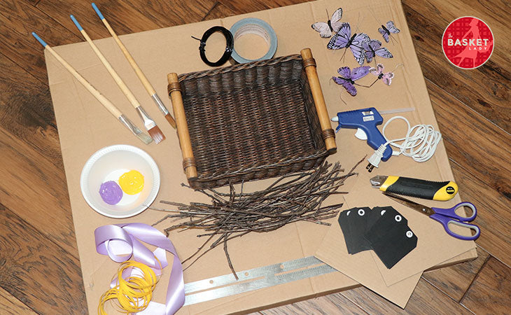 DIY Wishing Well: Tools and materials.