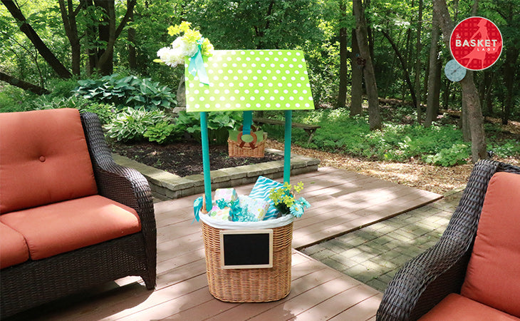 Do it yourself tall standing wishing well for a bridal or baby shower