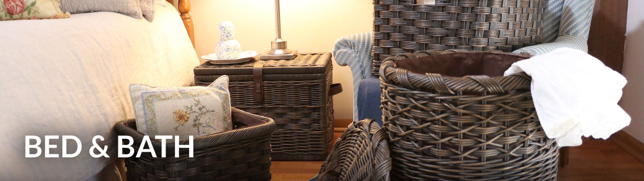 Bed & Bath Wicker Storage Baskets
