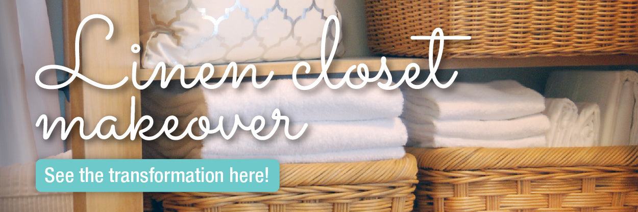 We Had So Much Fun Giving This Linen Closet A Makeover! See The Before And  After Pics And Find Out What Baskets We Used To Take This Closet From ...